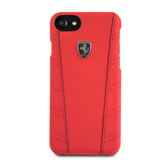 Ferrari iPhone 8 & iPhone 7 Cell Leather Hard Case
