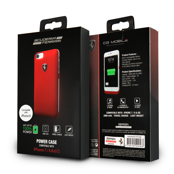 iPhone 8 & iPhone 7  Ferrari Phone Case Charger