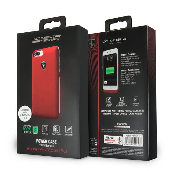iPhone 8 Plus & iPhone 7 Plus  Ferrari Phone Case Charger