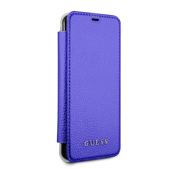 Guess Blue Booktype Hard Phone Case for Samsung Galaxy S8