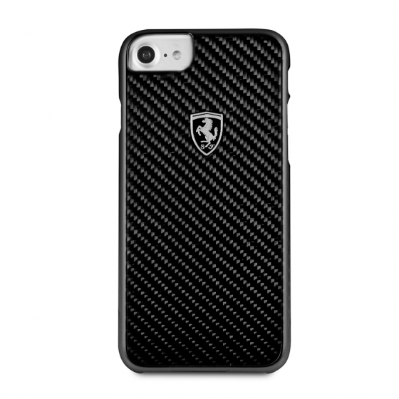 iPhone 7 & iPhone 8 Ferrari Genuine Carbon Fiber Hard Case