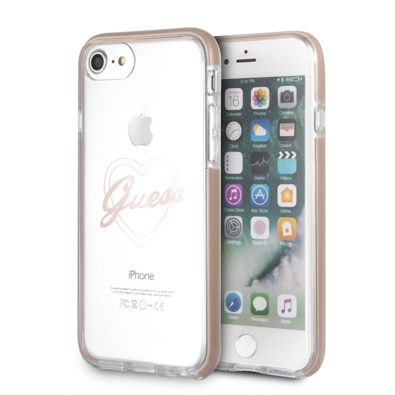 Guess Transparent Thermoplastic Polyurethane Phone Case for iPhone 8 & iPhone 7