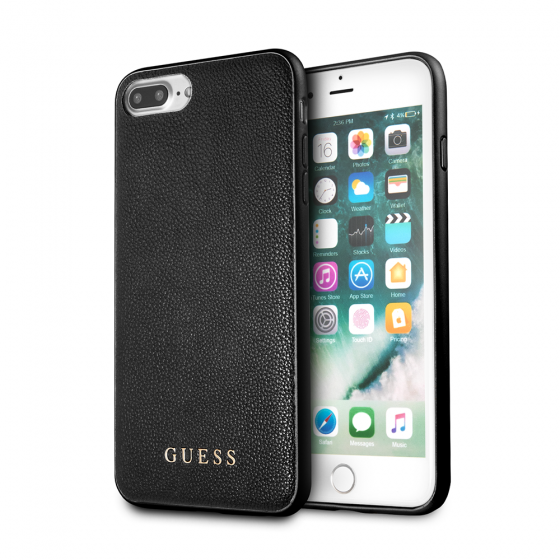 Guess Black Hard Phone Case for iPhone 8 Plus & iPhone 7 Plus