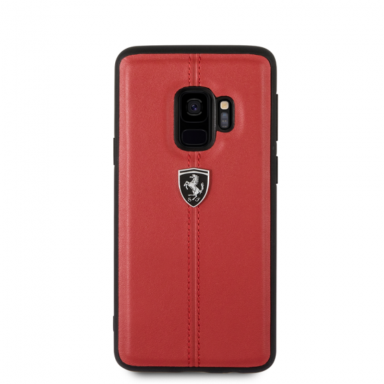 Samsung Galaxy S9 Ferrari Genuine Leather Hard Case