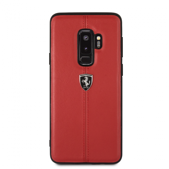 Samsung Galaxy S9 Plus Ferrari Genuine Leather Hard Case