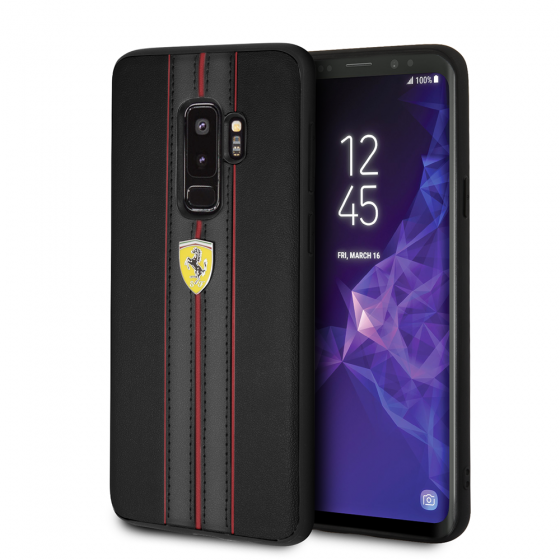 Samsung Galaxy S9 Plus Ferrari PU leather hard case