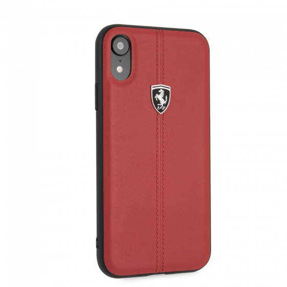 iPhone XR Ferrari Genuine Leather Hard Case