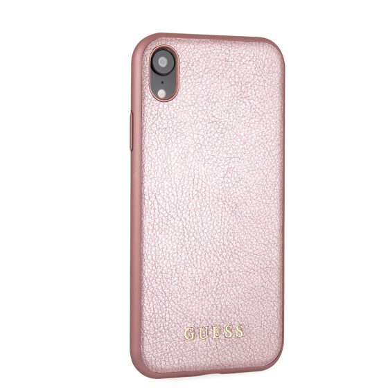 Guess Black PU Leather Phone Case for iPhone XR
