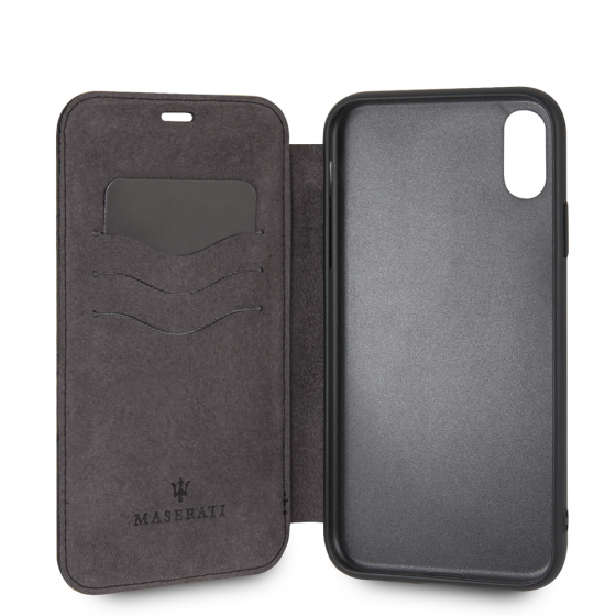 iPhone XR Maserati Genuine Leather Book Style Case Granlusso Origins