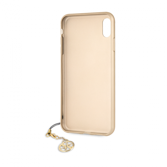 GUESS iPhone XS Max Brown Hard Case with Phone Charm