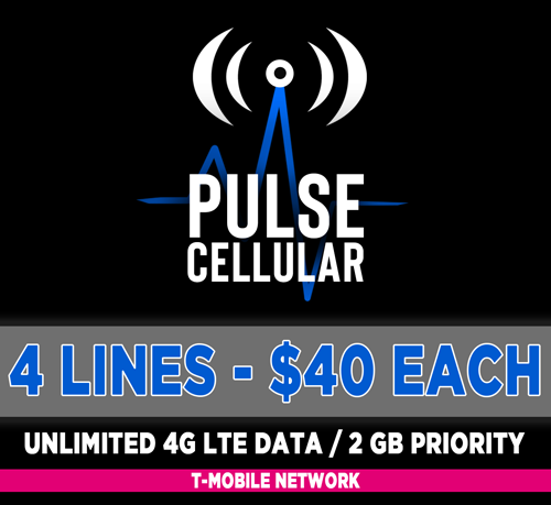 Basic Plan - 4 Lines Unlimited Talk, Text & High Speed LTE Data - 2 GB Priority