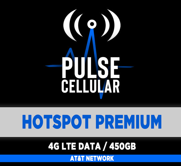 Premium Plan - Hotspot/Mobile Internet - High Speed LTE Data 450GB