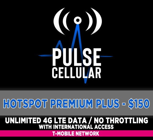 Hotspot/Mobile Internet Premium Plus - Unlimited LTE Data with International Access