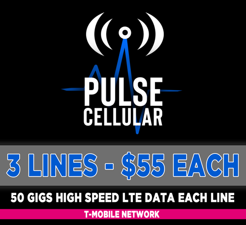 Premium Plan - 3 Lines Unlimited Talk, Text & 50 GB High Speed LTE Data