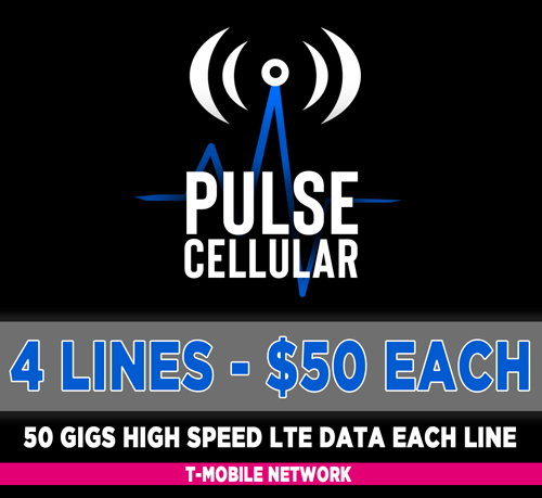 Premium Plan - 4 Lines Unlimited Talk, Text & 50 GB High Speed LTE Data