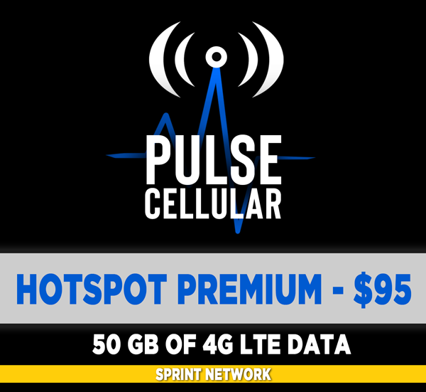 Premium Plan - Hotspot/Mobile Internet - 50 GB of High Speed LTE Data