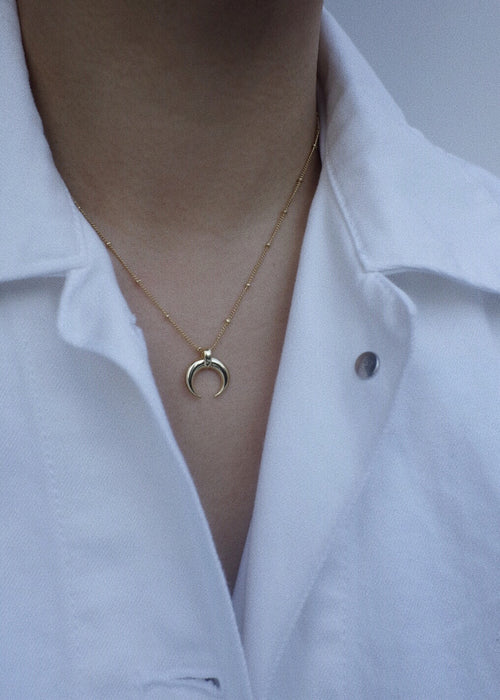 Horn Necklace in Gold
