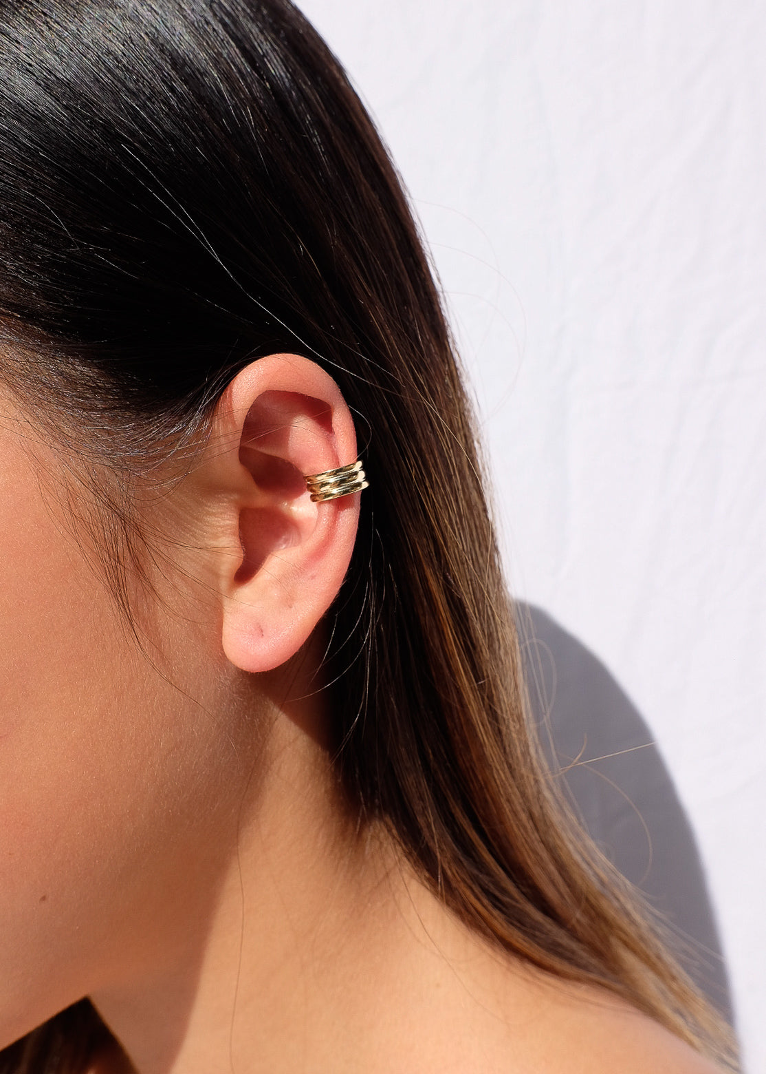 Column Ear Cuff in Gold