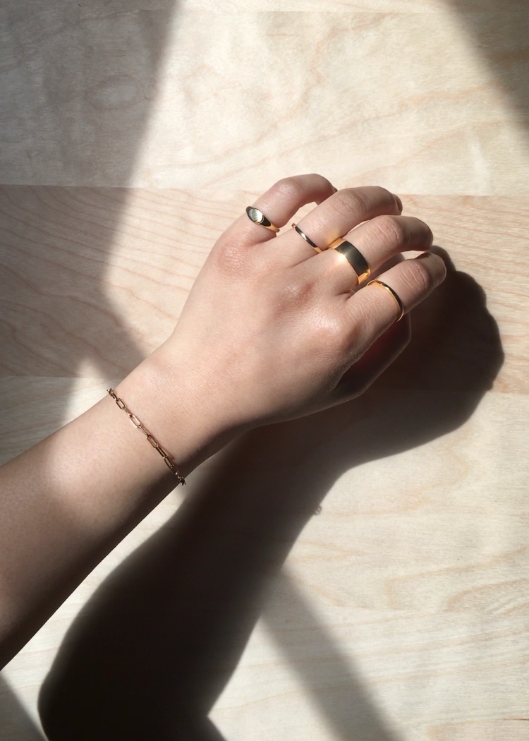 Wide Band Ring in Gold