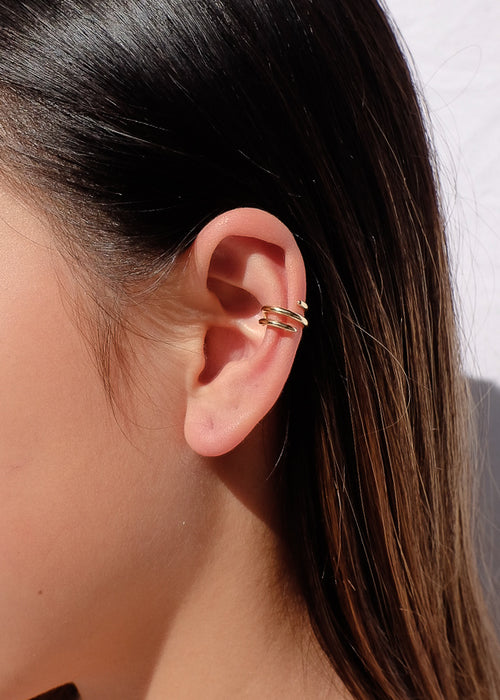 Multi Band Ear Cuffs in Gold