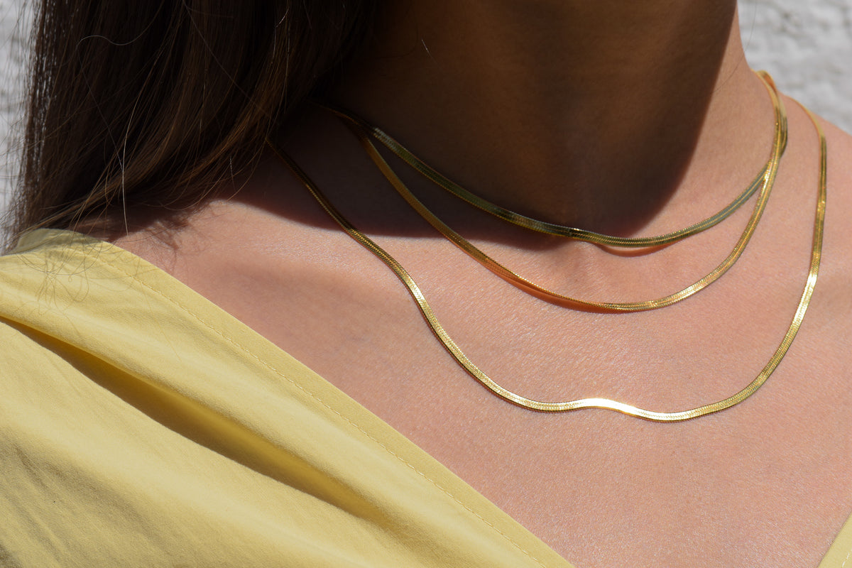 Arianne Chain Necklace in Gold