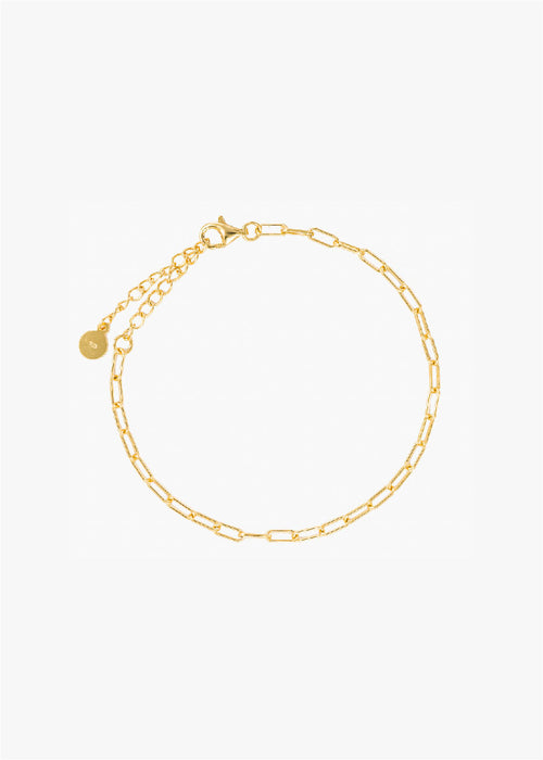 Rectangle Chain Bracelet in Gold