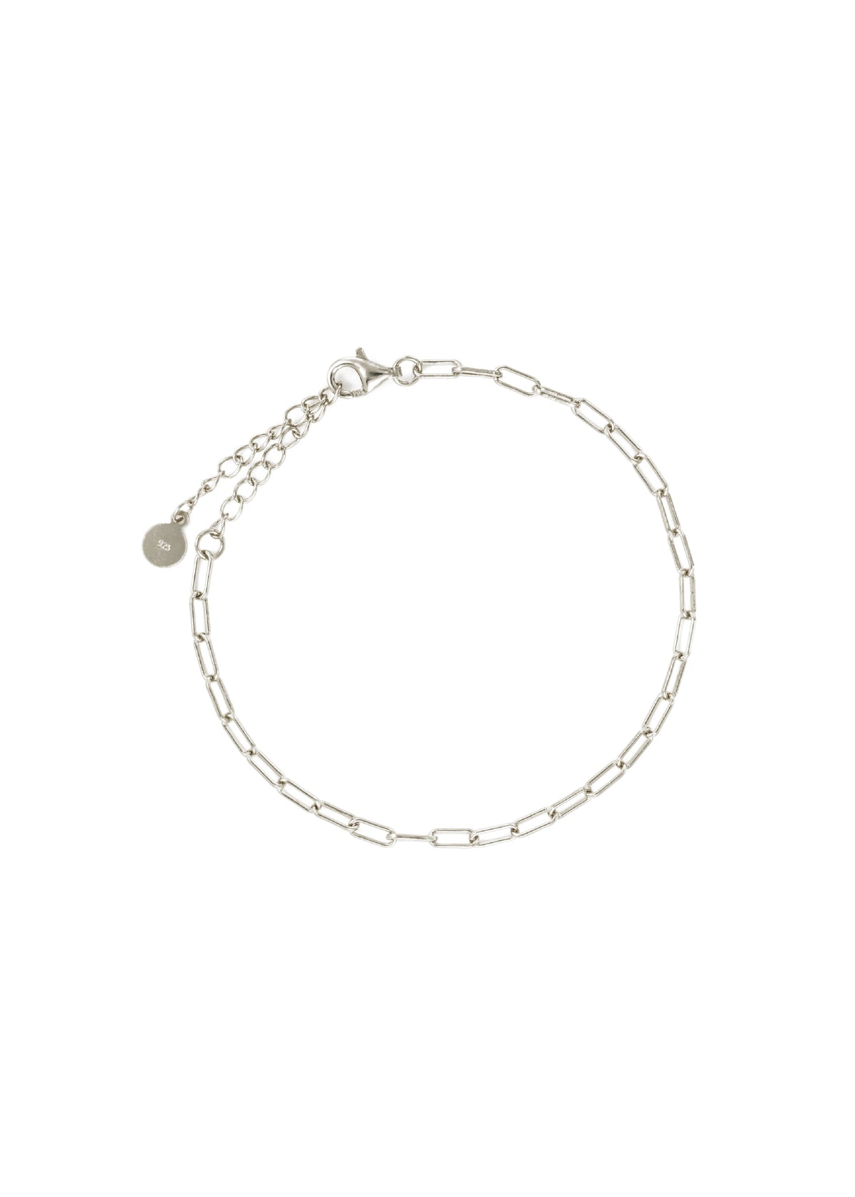 Rectangle Chain Bracelet in Silver