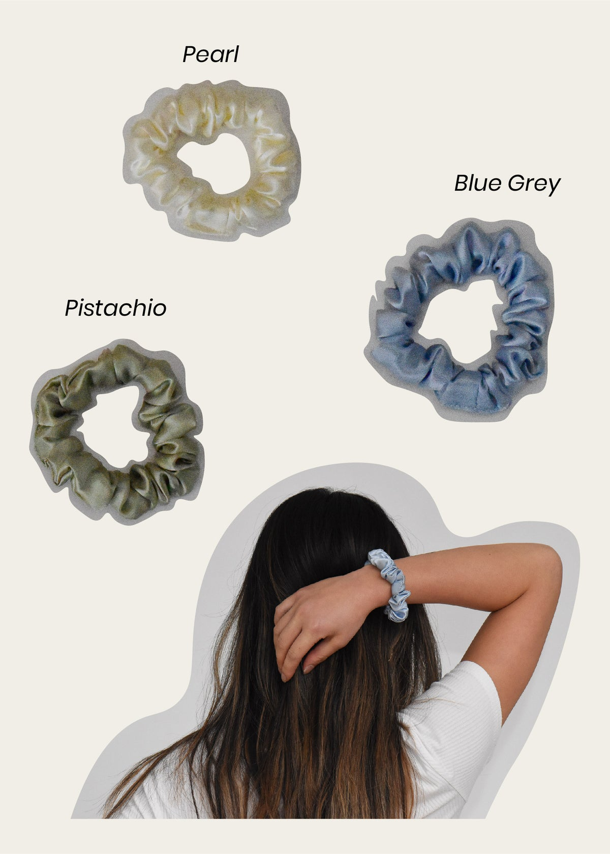 Silk Scrunchie Set I