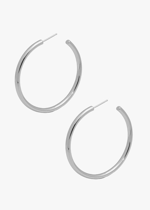 Celine Hoops in Silver