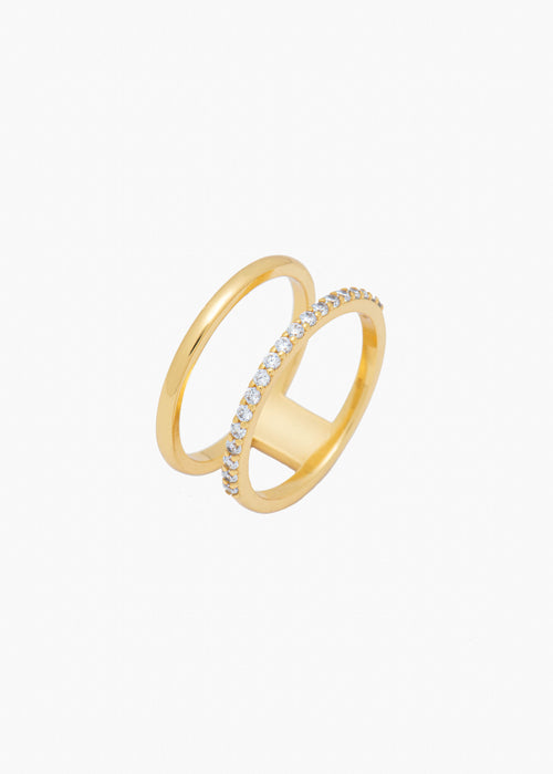Double Band Ring in Gold