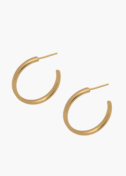 Medium Celine Hoops in Gold