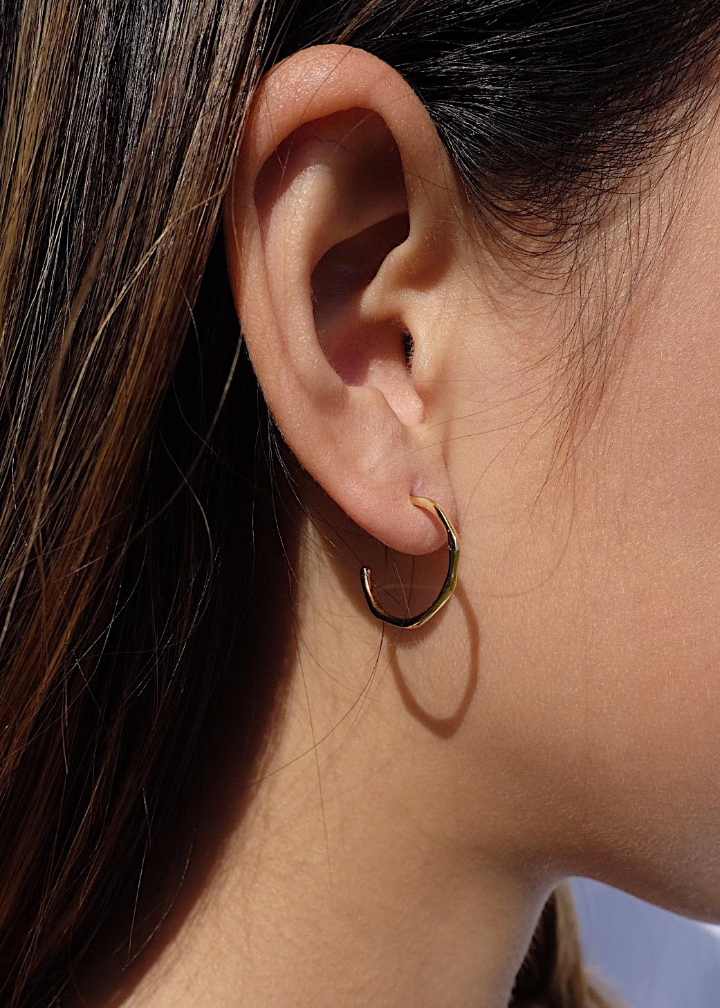 Molten Hoop Earrings in Gold