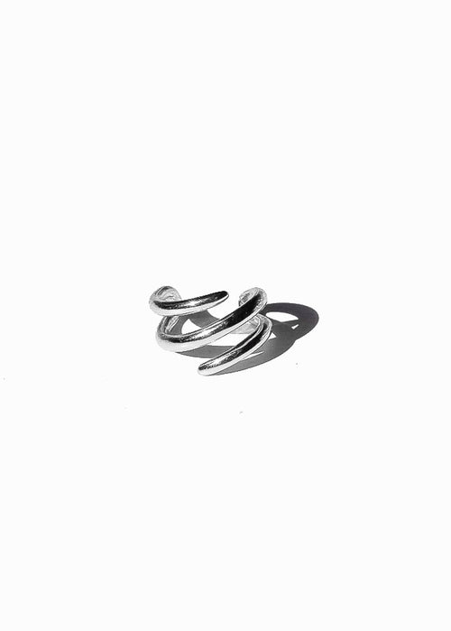 Multi Band Ear Cuffs in Silver