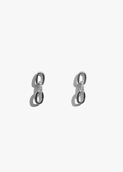 Small Chain Earrings in Silver
