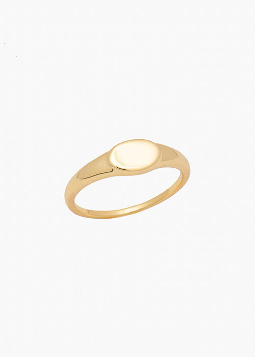 Small Signet Ring in Gold