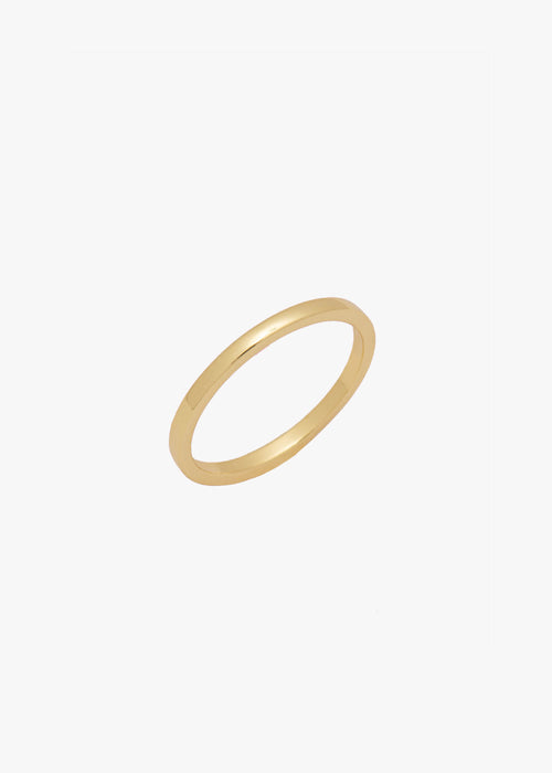 Square Band Ring in Gold