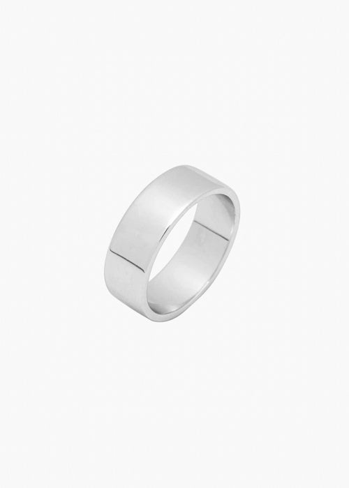Wide Band Ring in Silver