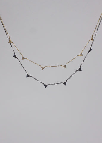 Texture Box Chain Necklace in Silver