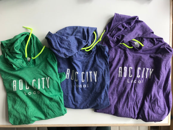 Ladies Roc City Local hooded long sleeve tees
