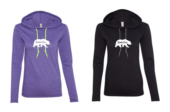Santa Cruz local ladies hooded tees