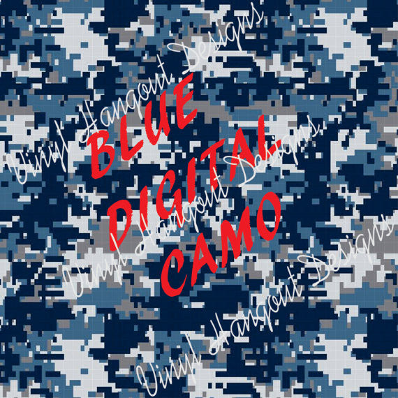 Blue Digital Camo Pattern Vinyl