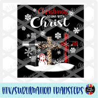 Christmas Begins With Christ Heat Transfer Vinyl Ready To Press