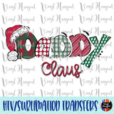Christmas Claus Daddy Heat Transfer Vinyl Ready To Press