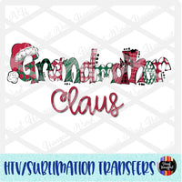 Christmas Claus Grandmother Heat Transfer Vinyl Ready To Press