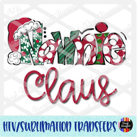 Christmas Claus Nawnie Heat Transfer Vinyl Ready To Press
