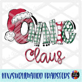 Christmas Claus Onnie Heat Transfer Vinyl Ready To Press