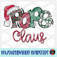 Christmas Claus Pops Heat Transfer Vinyl Ready To Press