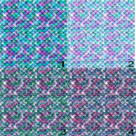 Mermaid Scales #2 Small Print Tiled Pattern Vinyl