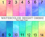 Watercolor Bright Ombre Pattern Vinyl