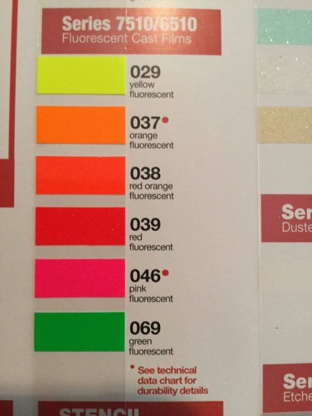 Oracal 6510 Fluorescent Vinyl